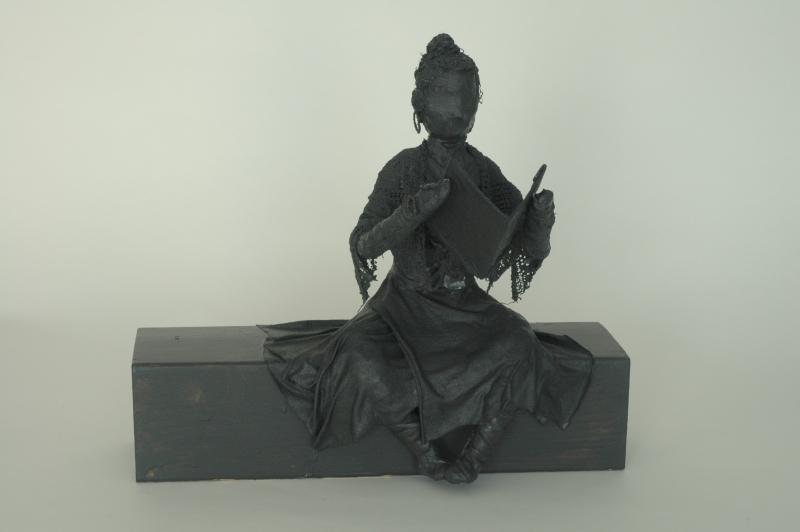 Meditative lady